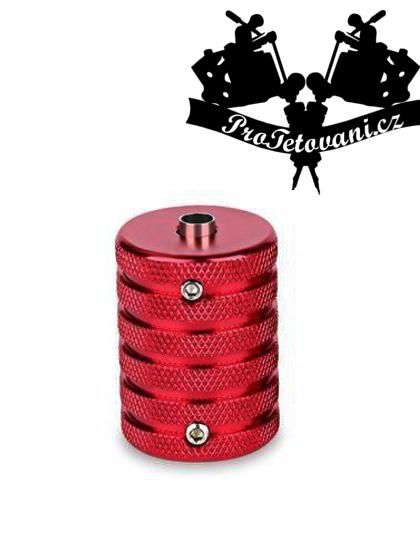 Tetovací grip a tubus protiskluzový 35 mm red