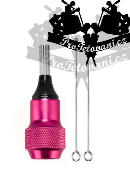 Tetovací grip H2 pink pro tetovací cartridge