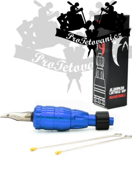 Tetovací grip na cartridge FANG PREMIUM BLUE