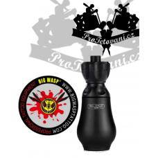 Highly durable tattoo grip BIGWASP BLACK on tattoo cartridge