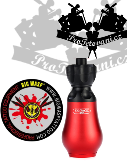 Vysoce odolný tetovací grip BIGWASP RED na tetovací cartridge