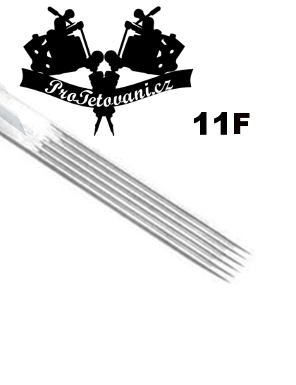 Tetovací jehla Flat 11 F11
