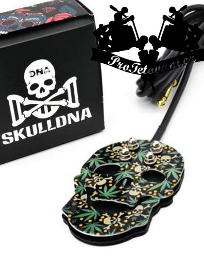 Prémiový tetovací pedál funky skull weed