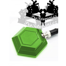 Highly durable HEXAGON GREEN tattoo pedal and cabling