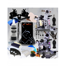 Tattoo set with two Special edition coil machines and Dynamic Black