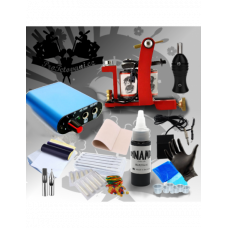 Tattoo set with one Special edition coil machine and Dynamic Black tattoo color