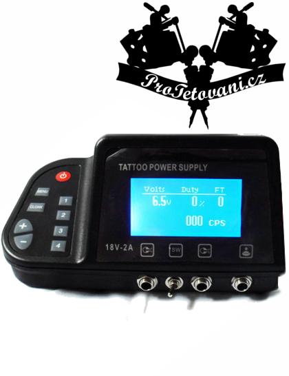 Duální LCD tetovací zdroj EEET pro tetování