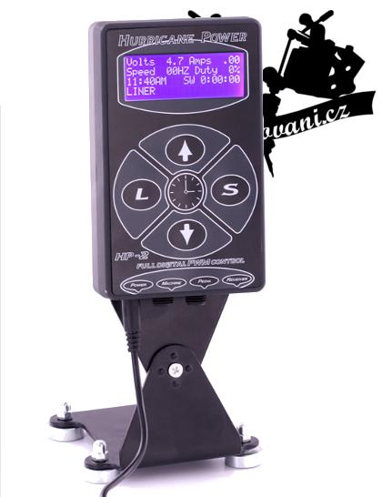HURRICANE LCD tetovací zdroj s ovládacím panelem