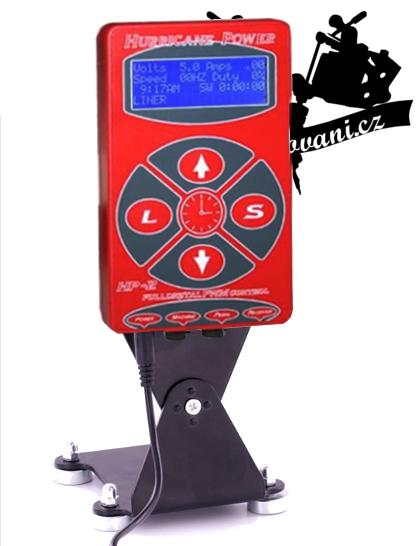 HURRICANE LCD RED tetovací zdroj s ovládacím panelem