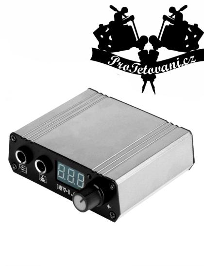 Tetovací zdroj mini Silver LCD