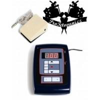 Tetovací zdroj LCD Thunder Pro s tlačítky a pedálem