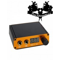Tattoo power supply black mini Gold LCD