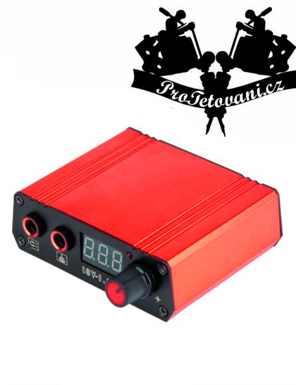 Tetovací zdroj mini Red LCD