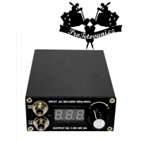 Tattoo power supply black mini Vertical