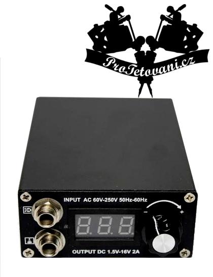Tetovací zdroj black mini Vertical LCD