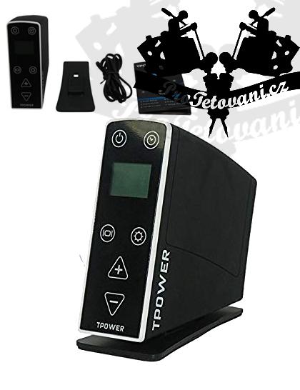 Tetovací zdroj TPOWER BLACK LCD