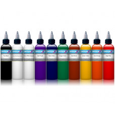 Set of tattoo colors Intenze 10 colors in a set