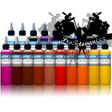 Large set of tattoo colors Intenze 19 colors in a set