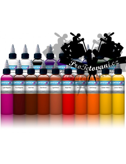 Velký set tetovacích barev Intenze 19 barev v sadě