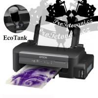 Epson EcoTank printer for transfer of tattoo motifs using Stencil printer ink