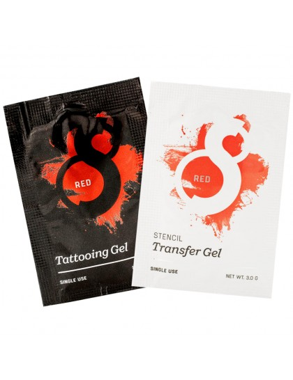 S8 red Stencil Transfer gel přenašeč a Tattooing Barrier gel SET 2ks