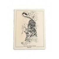Training tattoo tiger skin