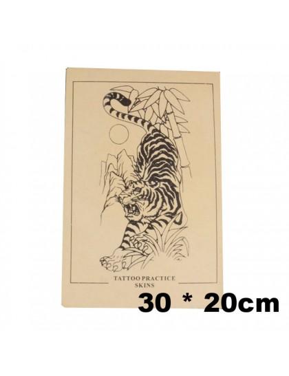 Trénovací tetovací kůže tygr větší 30 x 20 cm