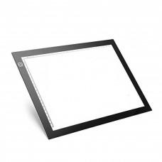 Hardened LED light board for drawing motifs