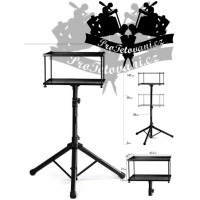 Large double portable storage table for tattoo equipment