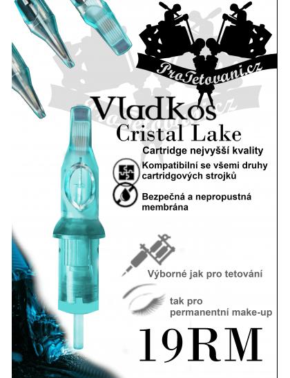 Prémiová tetovací cartridge VLADKOS CRISTAL LAKE 19RM