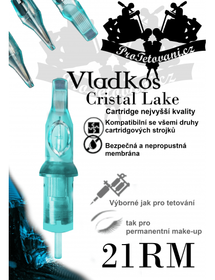 Prémiová tetovací cartridge VLADKOS CRISTAL LAKE 21RM