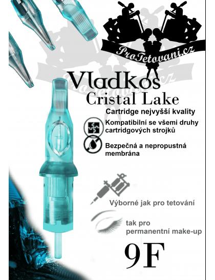 Prémiová tetovací cartridge VLADKOS CRISTAL LAKE 9 FLAT