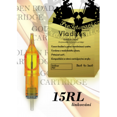 Professional tattoo cartridge Vladkos Golden Road 15RL