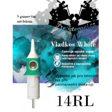 Vladkos White tattoo cartridge with 14RL sleeve