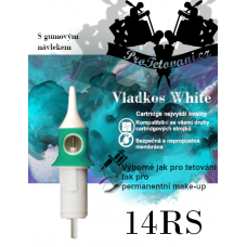 Vladkos White tattoo cartridge with 14RS sleeve