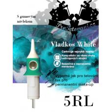 Vladkos White tattoo cartridge with 5RL sleeve