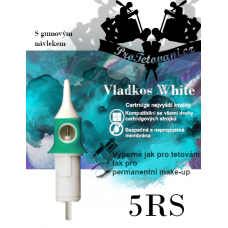Vladkos White tattoo cartridge with 5RS sleeve