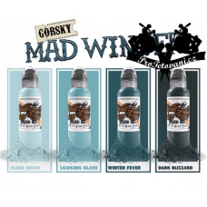 Set of tattoo colors World Famous Ink Mad Winter 4pcs