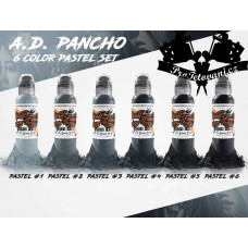 Set of tattoo colors World Famous Ink   Pancho Pastel Gray