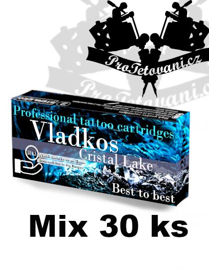 Základní MIX tetovacích cartridgí Vladkos Cristal Lake 30 ks